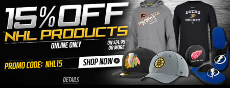 Lids 15 Off NHL Gear (Until Jan 6)