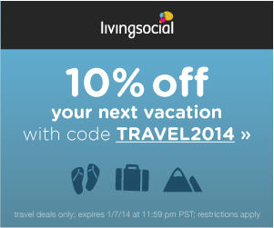LivingSocial 10 Off Travel Deals Promo Code (Jan 3-7)