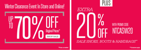 Naturalizer Winter Clearance Event - Up to 70 Off + Extra 20 Off (Until Feb 2)