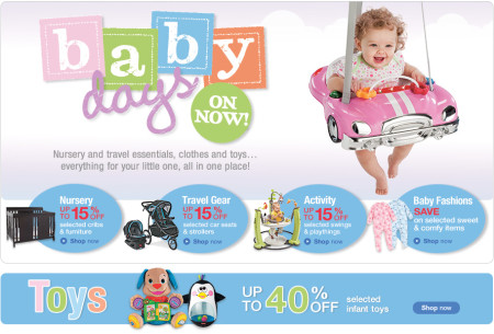 Sears Baby Days - Save up to 40 Off