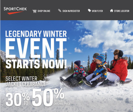 Sport Chek Legendary Winter Event (Save up to 60 Off)