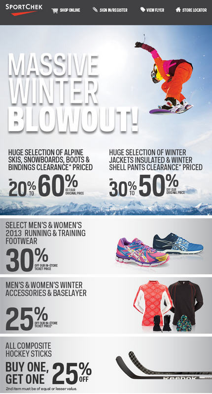 Sport Chek Massive Winter Blowout