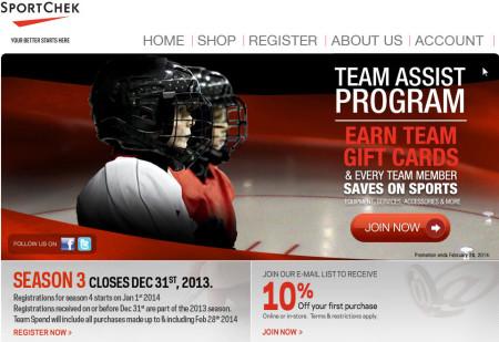 SportChek Team Assist Program Season 4 - Lots of FREE Coupons