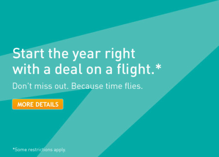 WestJet New Year's Seat Sale (Book by Jan 7)
