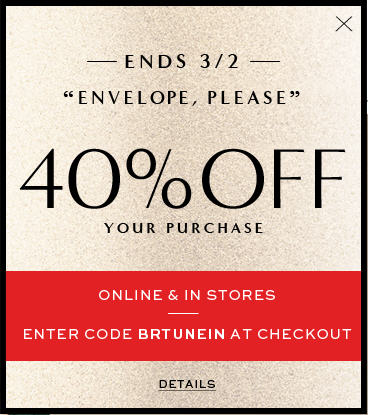 Banana Republic 40 Off Your Purchase (Feb 27 - Mar 2)