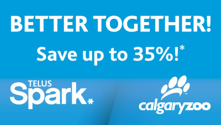 Calgary Zoo and TELUS Spark Flex Pass Save up to 35 Off Admission (Until Mar 31)