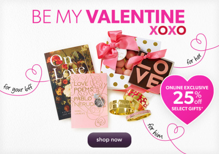 Chapters Indigo 25 Off Valentine's Day Gifts