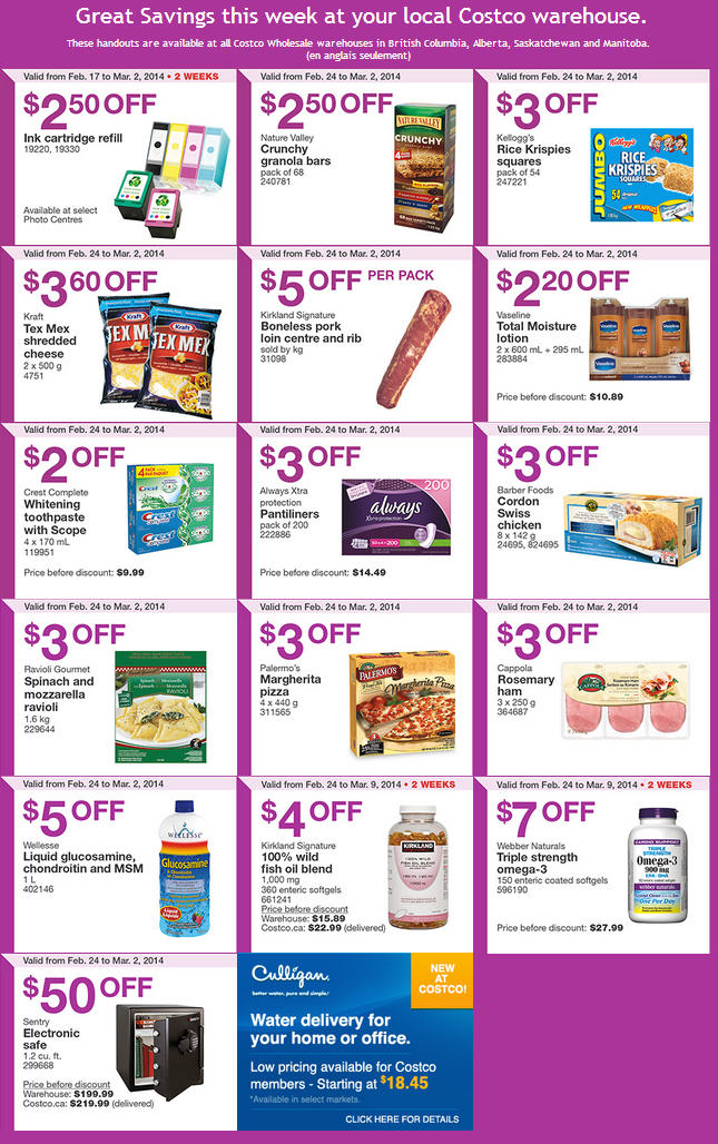 Costco Weekly Handout Instant Savings Coupons West (Feb 24 - Mar 2)