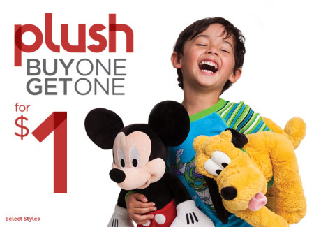 Disney Store Buy One Plush, Get One for $1
