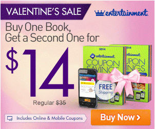 Entertainment Books 40 Off All Coupon Books + Free Shipping (Feb 10-12)
