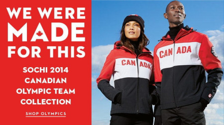 Hudson's Bay Official Outfitter of the Canadian Olympic Team