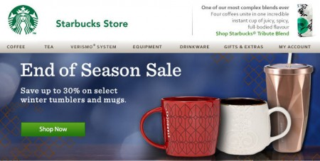 Starbucks Store End of Season Sale - Save up to 30 Off Winter Tumblers and Mugs