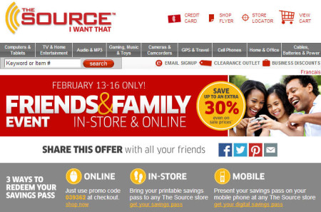 The Source Friends & Family Sale - Save up to an Extra 30 Off (Feb 13-16)