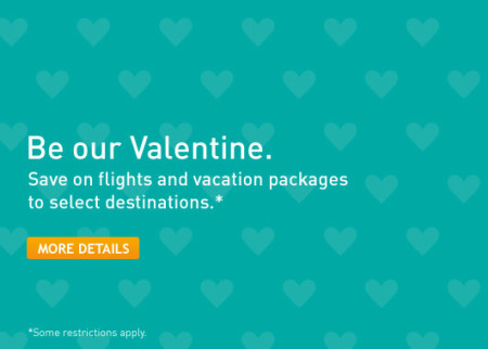 WestJet Valentine Seat Sale - Save on Flights and Vacation Packages (Book by Feb 16)