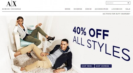 Armani Exchange Extra 40 Off Everything (Until Mar 11)