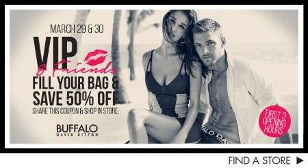 Buffalo David Bitton VIP & Friends Sale - 50 Off Purchase Coupon (Mar 29-30)