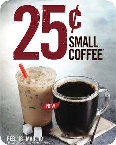 Burger King 25 for Small Coffee (Until Mar 10)