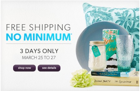 Chapters Indigo Free Shipping on All Orders - No Minimum Purchase Sitewide (Mar 25-27)