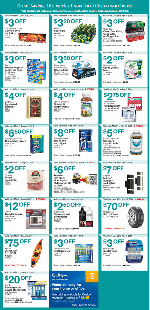 Costco Weekly Handout Instant Savings Coupons East (Mar 31 - Apr 6)
