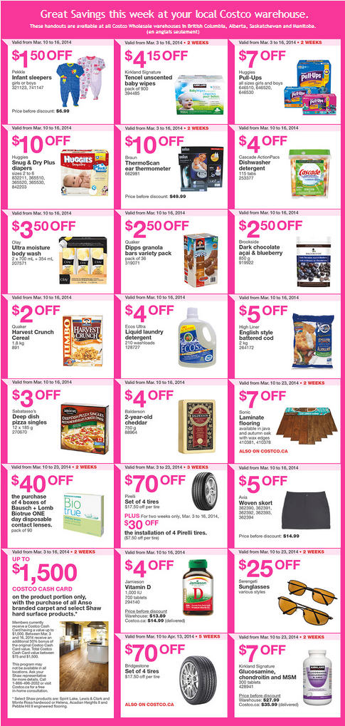 Costco Weekly Handout Instant Savings Coupons West (Mar 10-16)