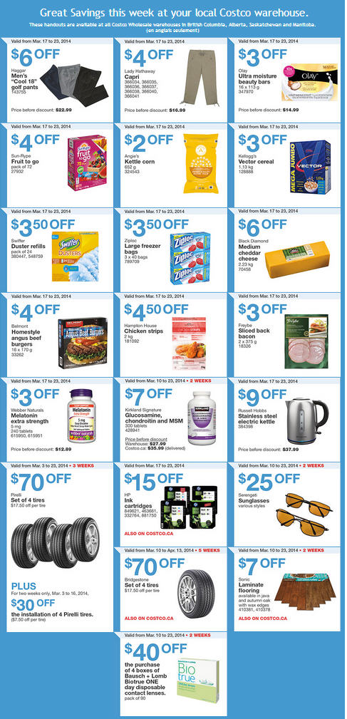 Costco Weekly Handout Instant Savings Coupons West (Mar 17-23)