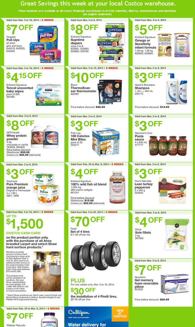 Costco Weekly Handout Instant Savings Coupons West (Mar 3-9)