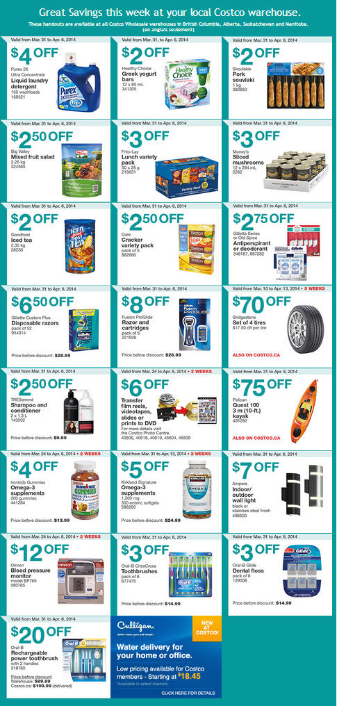 Costco Weekly Handout Instant Savings Coupons West (Mar 31 - Apr 6)