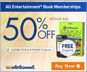 Entertainment Book 50 Off All Coupon Books + Free Shipping (Until Mar 12)