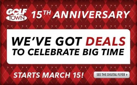 Golf Town 15th Anniversary Sale (Mar 15-30)