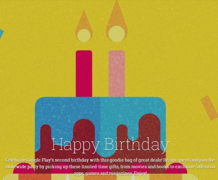 Google Play Store 2nd Birthday - Download FREE Apps and Deals