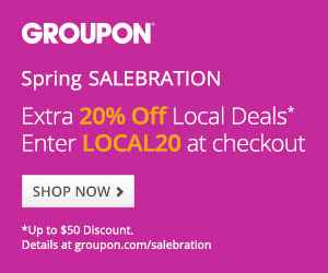 Groupon - Extra 20 Off Any Local Deal Promo Code (Mar 18-19)