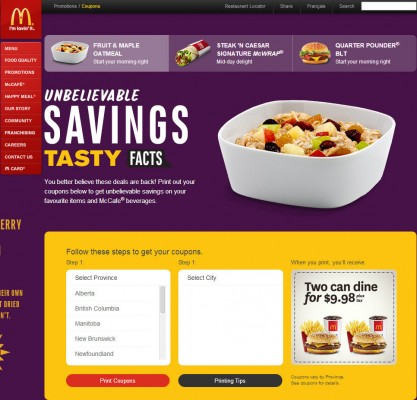 Mcdonalds coupons 2 can dine