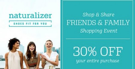 Naturalizer Friends & Family Sale - Extra 30 Off Entire Purchase