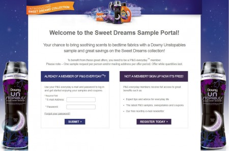 P&G Sweet Dreams Sample Portal - FREE Samples and Coupon Booklet