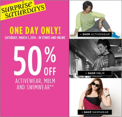 Penningtons 1-Day Only - 50 Off Activewear, MBLM and Swimwear (Mar 1)
