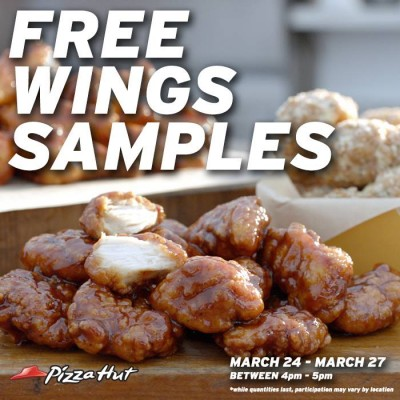 Pizza Hut FREE Wings Samples (Mar 24-27)