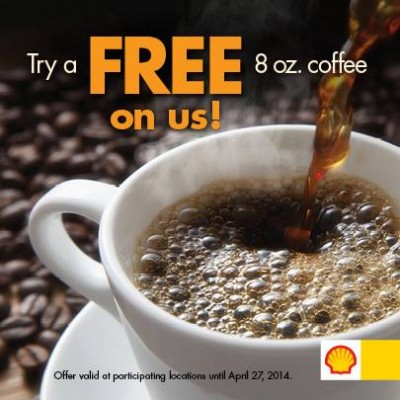 Shell Canada FREE Small Coffee (Until Apr 27)