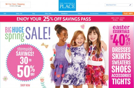The Children's Place 30-50 Off Storewide Savings + Extra 25 Off Everything Coupon (Mar 12-18)