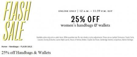 TheBay Flash Sale - 25 Off Women's Handbags and Wallets (Mar 19)