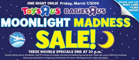 Toys R Us & Babies R Us Moonlight Madness Sale (Mar 7)