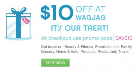 WagJag - Extra $10 Off Any Purchase Promo Code (Mar 10-12)