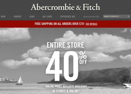 Abercrombie & Fitch 40 Off Entire Store