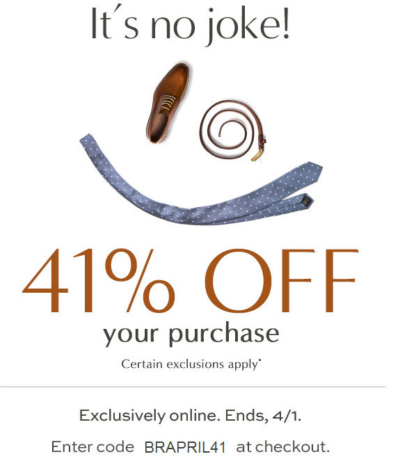 Banana Republic 41 Off Your Online Purchase (Apr 1)