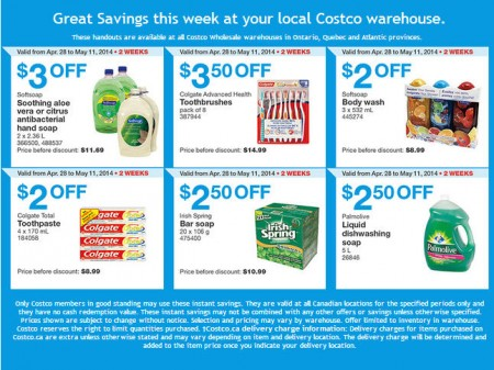 Costco Weekly Handout Instant Savings Coupons East (Apr 28 - May 11)