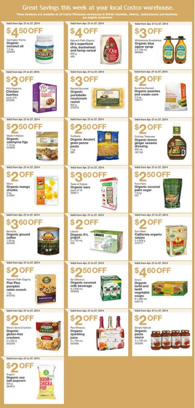 Costco Weekly Handout Instant Savings Coupons West (Apr 21-27)