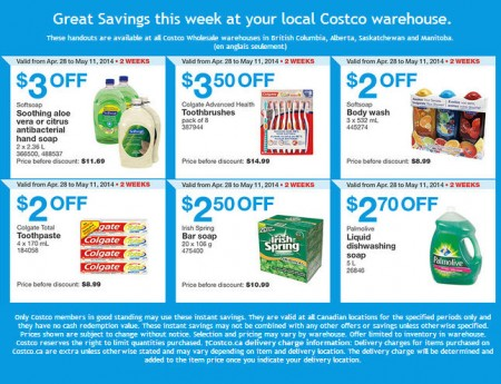Costco Weekly Handout Instant Savings Coupons West (Apr 28 - May11)