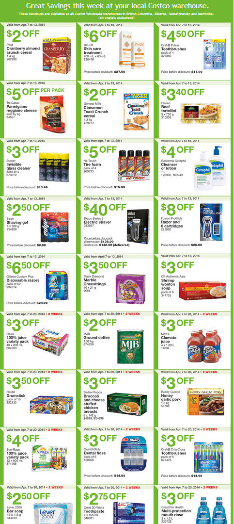Costco Weekly Handout Instant Savings Coupons West (Apr 7-13)