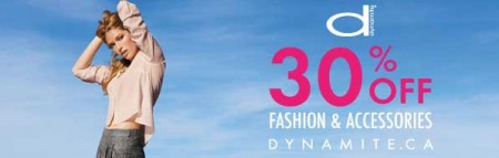 Dynamite Clothing 30 Off All Orders + Free Shipping Promo Code (Apr 17-21)