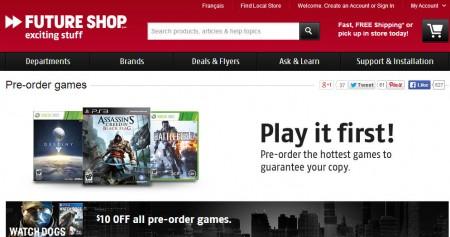Future Shop $10 Off All Pre-Order Games (Until Apr 21)