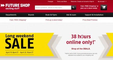 Future Shop Long Weekend Sale - 38 Hours Online Only (Until Apr 21)
